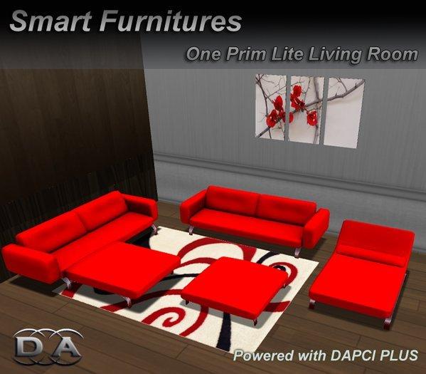 Second Life Marketplace - LITE RED LIVINGROOM SET Furniture Rezze