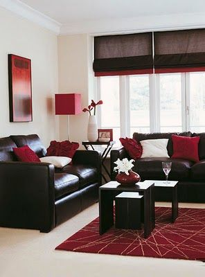 Inspirational ideas for real Living Rooms | Brown living room .