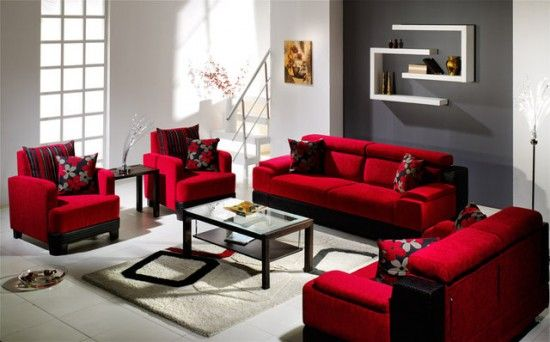 pictures of grey and red rooms | ... red stylish sofa 1 Cozy Red .