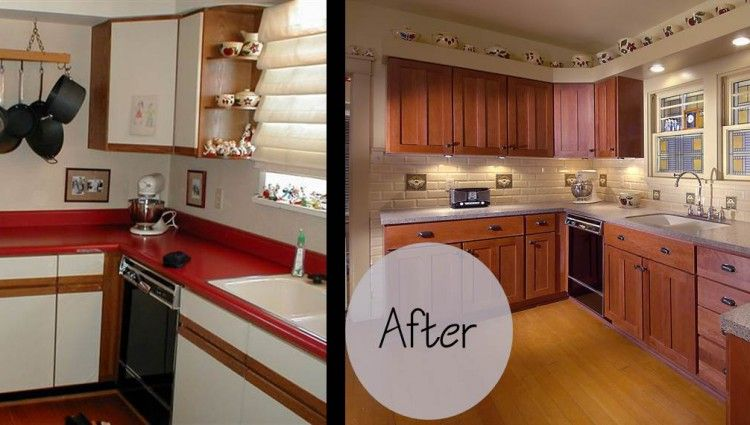 kitchen cabinet refacing before and after photos | Refacing .
