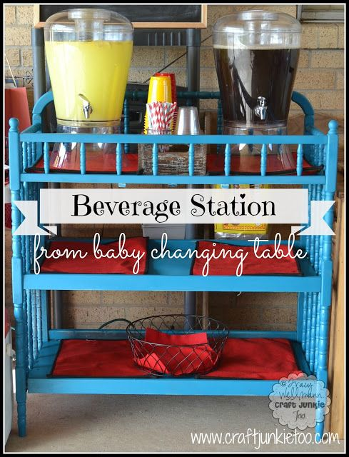 Beverage Station} From A Baby Changing Table | Diy baby furniture .