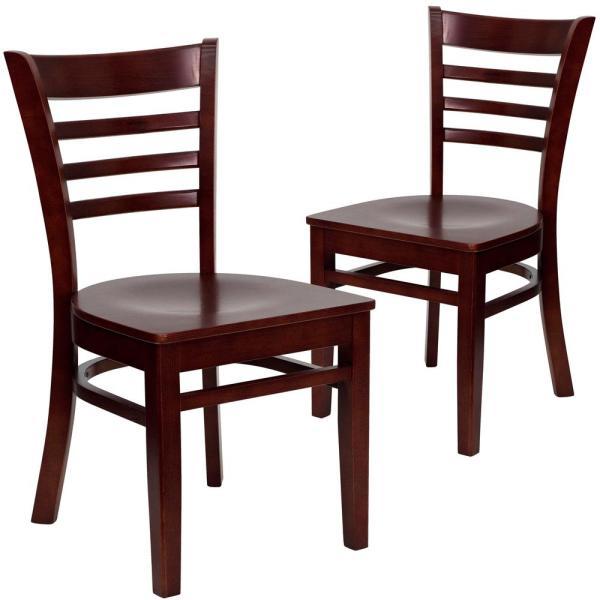 Carnegy Avenue Mahogany Wood Seat/Mahogany Wood Frame Restaurant .