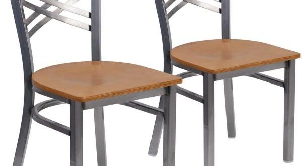 Carnegy Avenue Natural Wood Seat/Clear Coated Metal Frame .