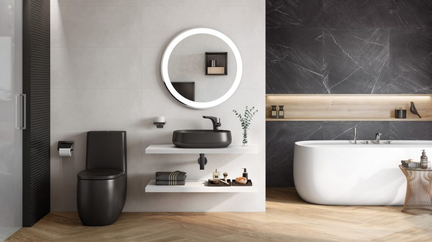 Roca launches bathroom collection made from design material Surf