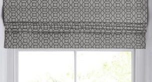 Woven Geo Roman Blind in 2020 | Roman blinds, Roman blinds design .