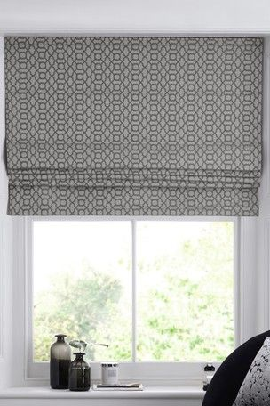 Woven Geo Roman Blind in 2020 | Roman blinds, Roman blinds design .