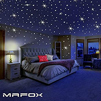 Amazon.com: Glow In The Dark Stars Wall Decor Stickers, 47 pcs 3D .