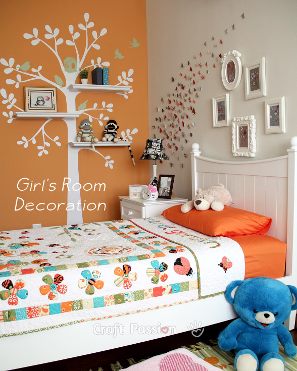 Girl's Bedroom Decoration Ideas - Home Decor | Craft Passi