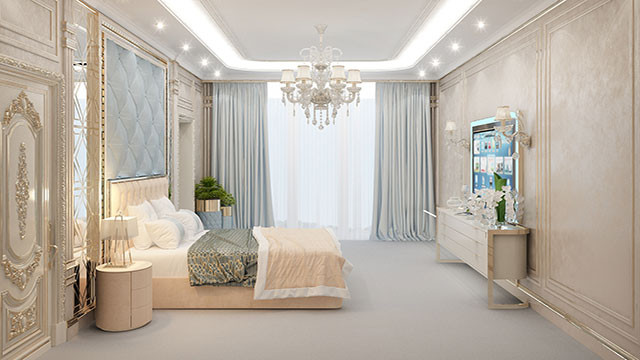 Bedroom decoration - luxury interior design company in Californ