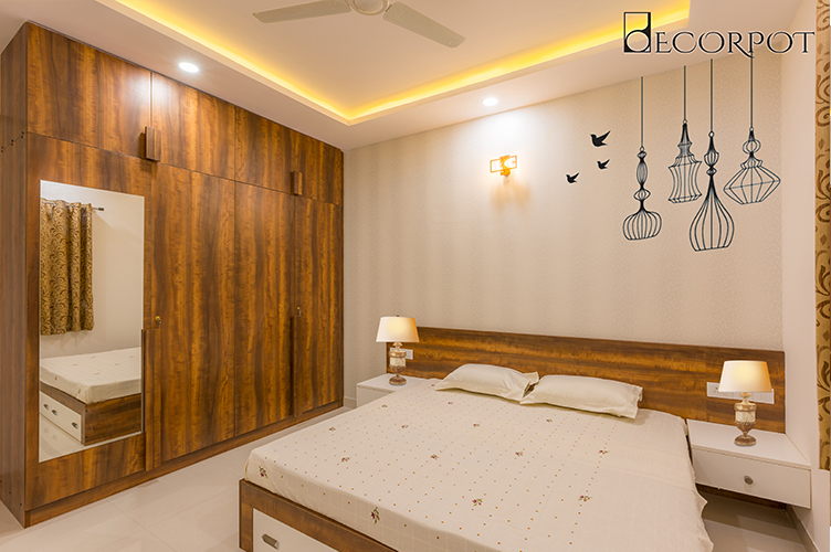 Guest Bedroom Interior Designers in Bangalo
