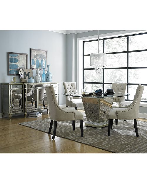 Furniture Marais Round Dining Room Furniture Collection & Reviews .