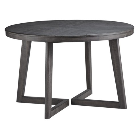 Besteneer Round Dining Room Table Dark Gray - Signature Design By .