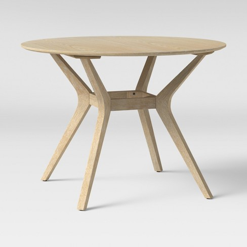 """42"""" Emmond Mid Century Dining Table Round Natural - Project 62 ."""