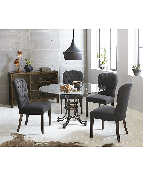Caspian Round Dining Furniture Collection, Created for Macy