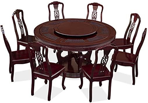 Amazon.com - ChinaFurnitureOnline Rosewood Round Dining Table Set .