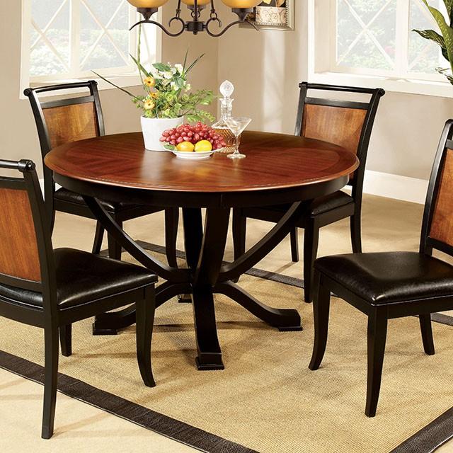 "Salida Acacia Black 48""Round Dining Table Set - Shop for ."