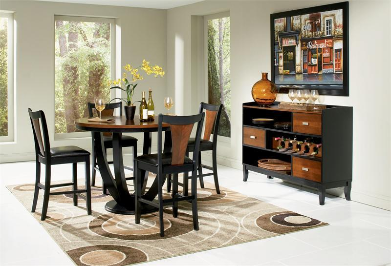 47 Margate Round Counter High Dining Table w/4 Chai