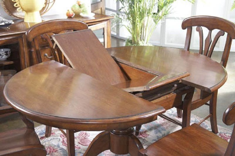 Cherry 48 Inch Round Expandable Dining Table ~ http://lanewstalk .
