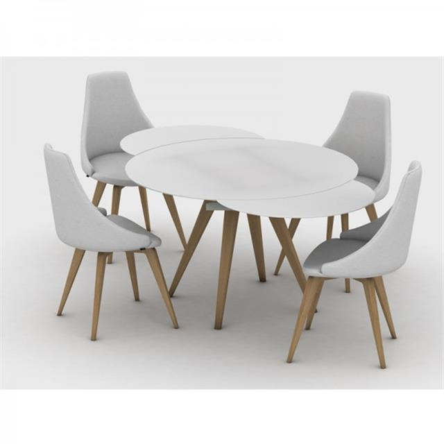 Awesome Modern Round Extendable Dining Table - Father of Trust Desig