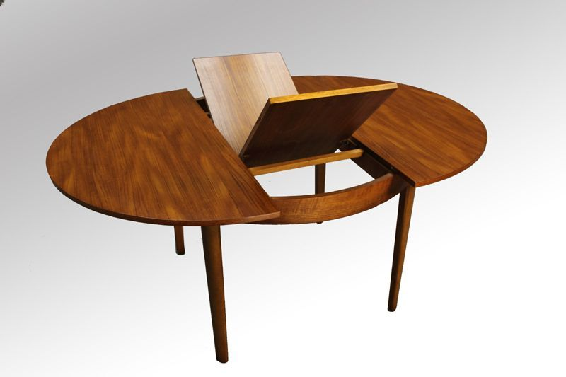 Danish Modern Teak Round Dining Table Extendable - this is the .