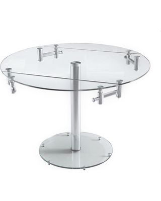 Shopping Special for Extendable round glass dining tab
