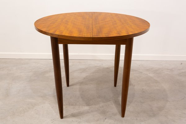 Round Extendable Dining Table, 1960s for sale at Pamo