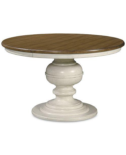 Furniture Sag Harbor Expandable Round Dining Pedestal Table .