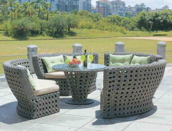 China Rattan Garden Furniture Round Table Chairs Sets for Outdoor .