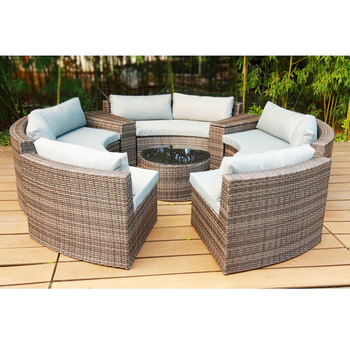 Outdoor Rattan Garden Patio Kd Round Sofa Bed Outdoor Furniture .