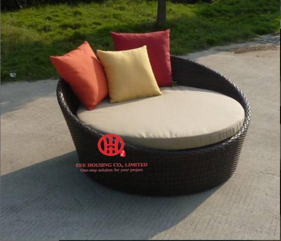 outdoor rattan furniture Sunny beach lounge sofa seater round .