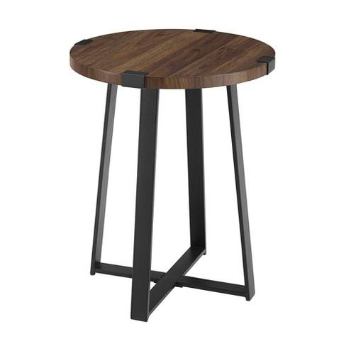 """18"""" Metal Wrap Round Side Table - Saracina Home : Targ"""