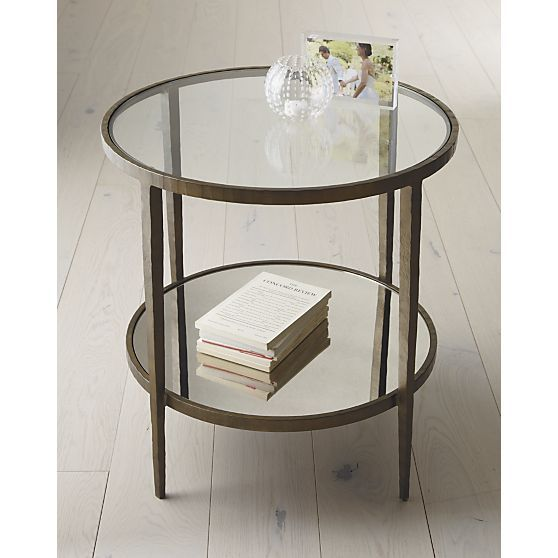 Clairemont Round Side Table + Reviews | Crate and Barrel in 2020 .