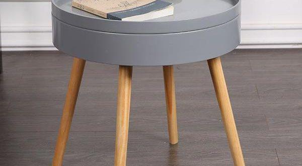 Carson - Modern Nordic Storage Round Side Table – Warm