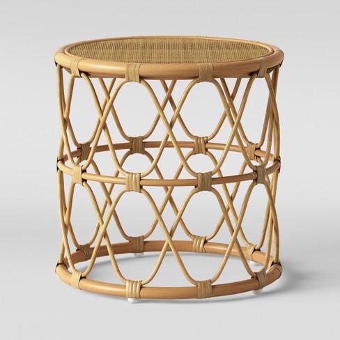 Jewel Round Side Table Natural - Opalhouse™ : Targ