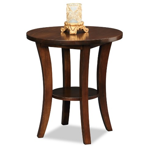Boa Round Side Table - Chocolate Cherry - Leick Home : Targ