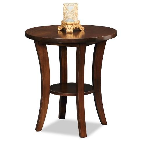 Boa Round Side Table - Chocolate Cherry - Leick Home : Targ