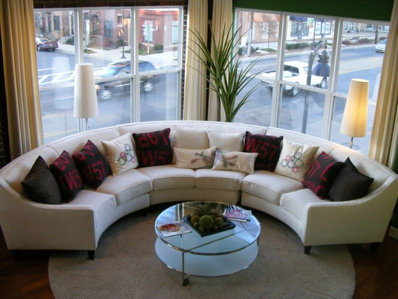 Modern Furniture Sofa Gorgeous Small Living Room Round Sectional .