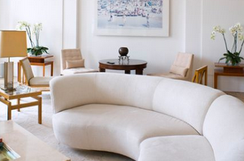 20 Round Couches That Will Steal The Show | Living room white .
