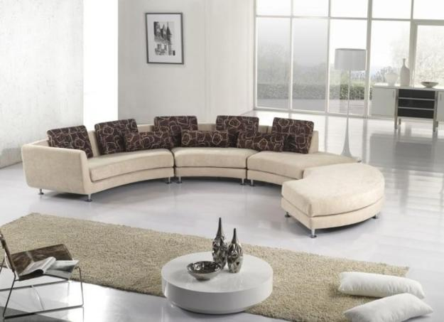 20 Modern Living Room Designs with Stylish Curved Sof