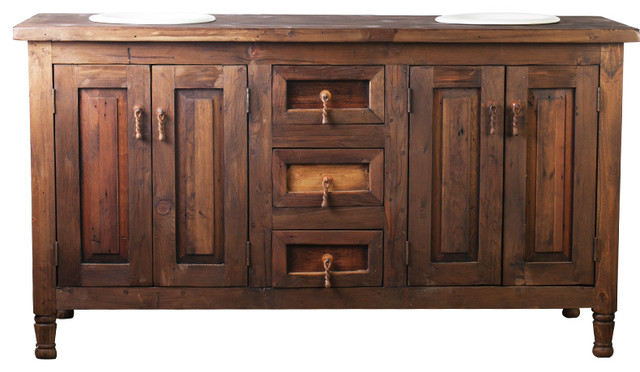 Harley Double Sink Barnwood Bathroom Vanity - Rustic - Bathroom .