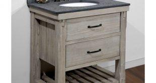 Shop Infurniture Rustic-style 30-inch Single-sink Bathroom Vanity .