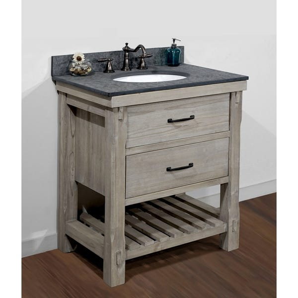 Shop Infurniture Rustic-style 30-inch Single-sink Bathroom Vanity .