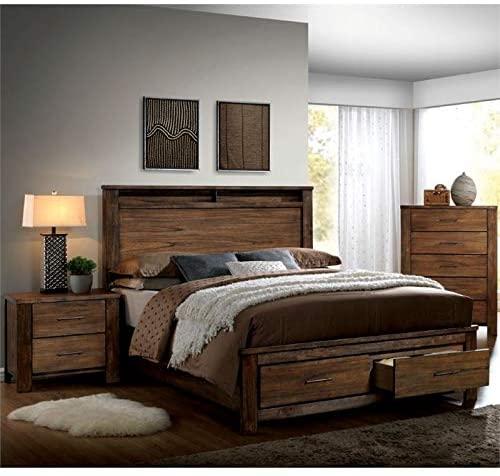 Amazon.com: Furniture of America Nangetti Rustic 3-Piece Queen .