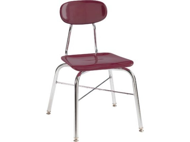 "Hard Plastic Stackable School Chair with X-Brace 17.75""H ."