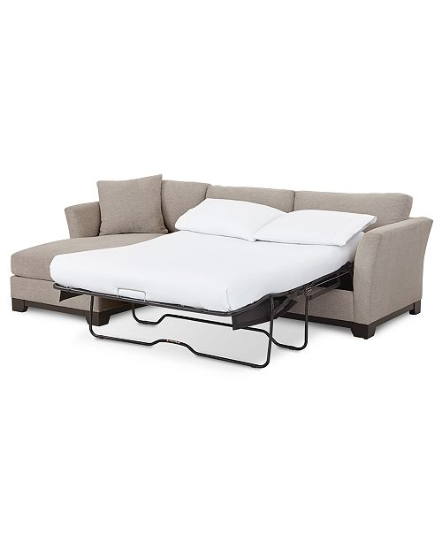 "Furniture Elliot II 107"" Fabric 2-Pc. Chaise Sleeper Sectional ."