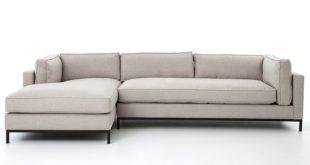 Grammercy Linen Upholstered Modern 2 Piece Sectional Sofa | Zin Ho