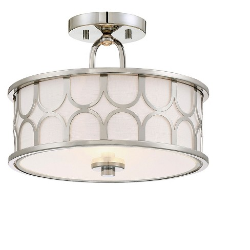 Ceiling Lights Semi-Flush Mount Polished Nickel - Aurora Lighting .