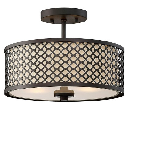Ceiling Lights Semi-Flush Mount Oil Rubbed Bronze - Aurora .