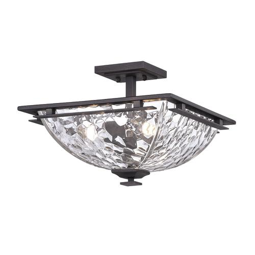 Patriot Lighting® Hakley Textured Bronze 3-Light Semi-Flush Mount .