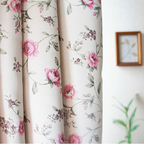 Good Quality Floral Pink Shabby Chic Curtains Blacko